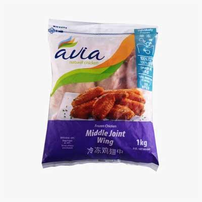 Avia Frozen Chicken Wing Wingettes 1kg