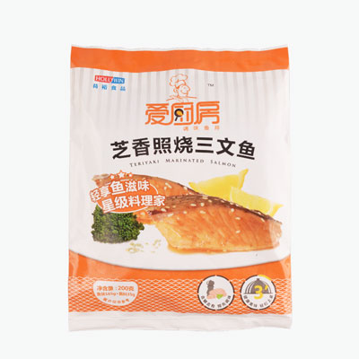 Hollywin, Marinated Salmon (Teriyaki, Raw) 200g