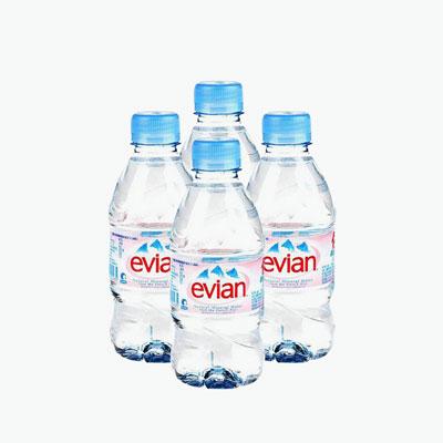 Evian, Still Natural Mineral Water 330ml x4