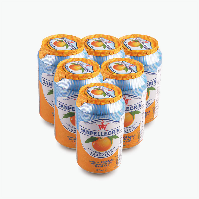 San Pellegrino, 'Aranciata' Sparkling Orange Beverage 330ml x6