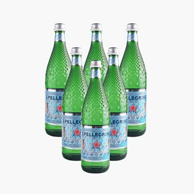 S.Pellegrino Sparkling Natural Mineral Water 750ml x4