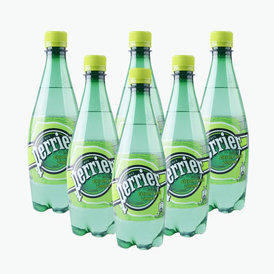 Perrier Carbonated Natural Drinking Water (Lime) 500ml x6