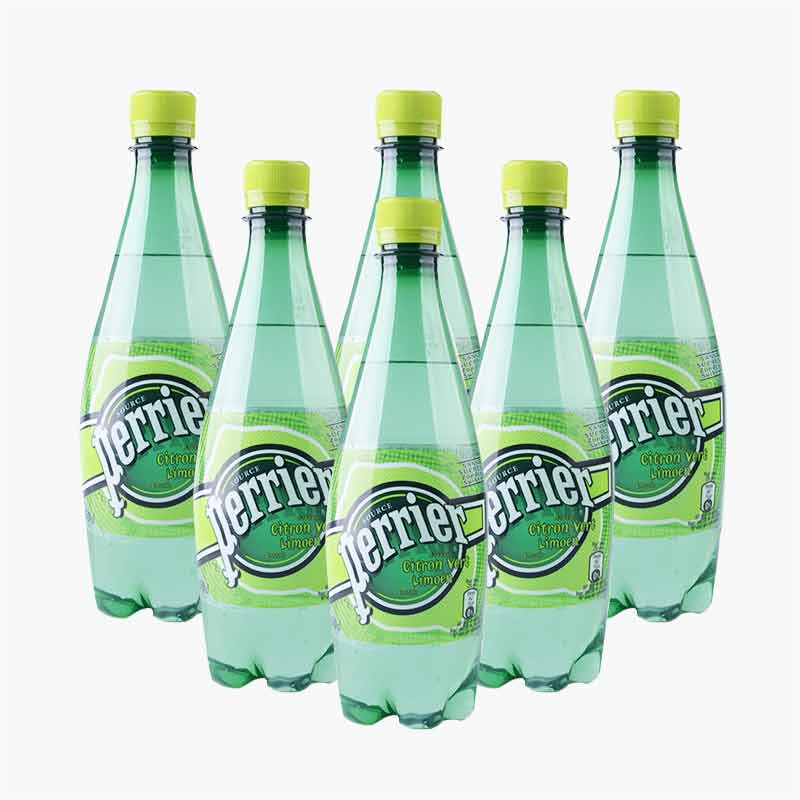 Perrier Sparkling Natural Mineral Water (Lime) 500ml x6