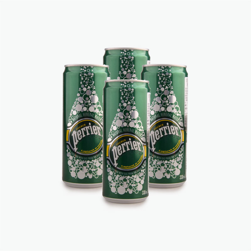Perrier, Sparkling Natural Mineral Water 330ml x4