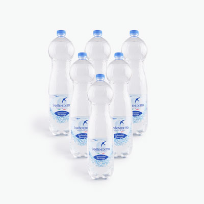 San Benedetto Carbonated Natural Drinking Water 1.5L x6
