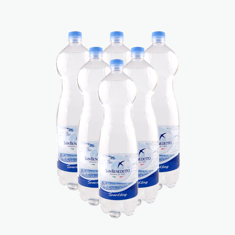 San Benedetto, Sparkling Natural Mineral Water 1.5L x6