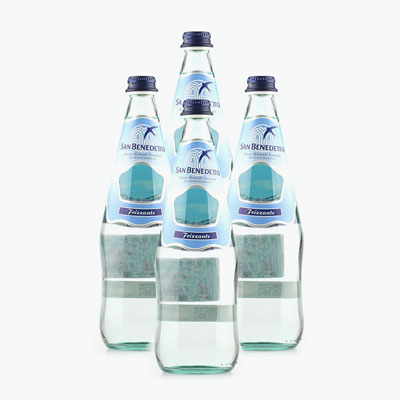 San Benedetto, Carbonated Natural Drinking Water 750ml x4