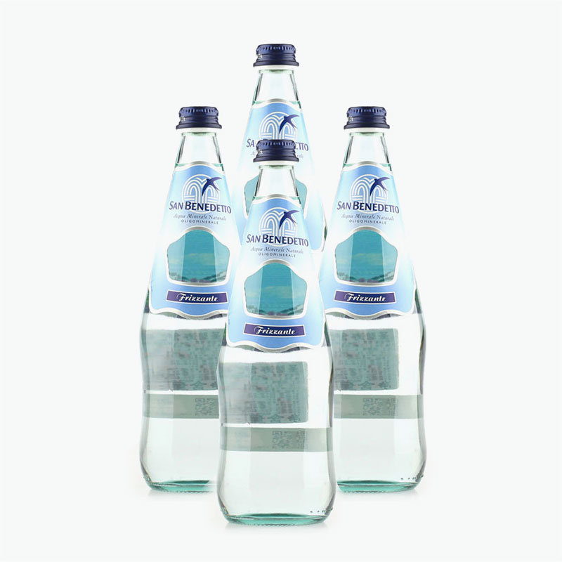 San Benedetto, Sparkling Natural Mineral Water 750ml x4