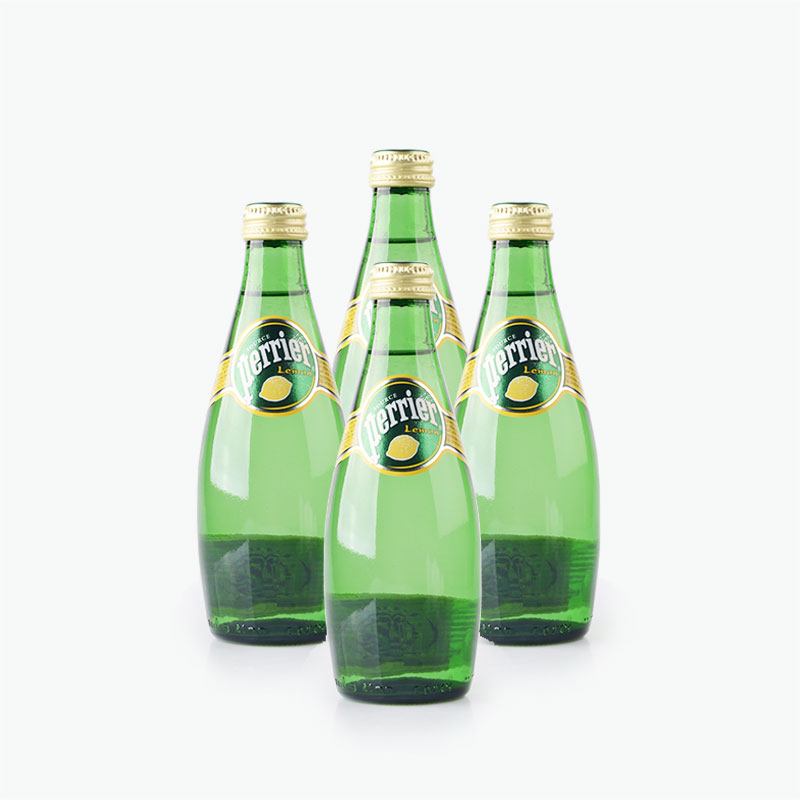 Perrier, Sparkling Natural Mineral Water (Lemon) 330ml x4