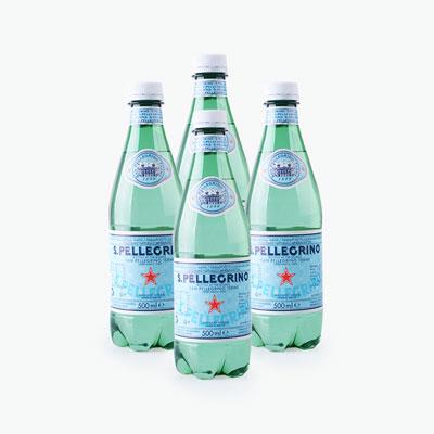 S.Pellegrino Sparkling Natural Mineral Water 500ml x4