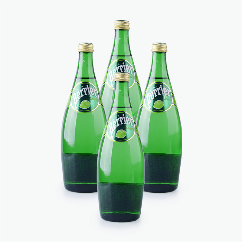 Perrier, Sparkling Natural Mineral Water (Lime) 750ml x4