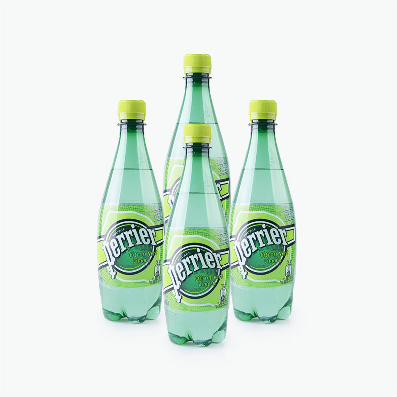 Perrier, Sparkling Natural Mineral Water (Lime) 500ml x4