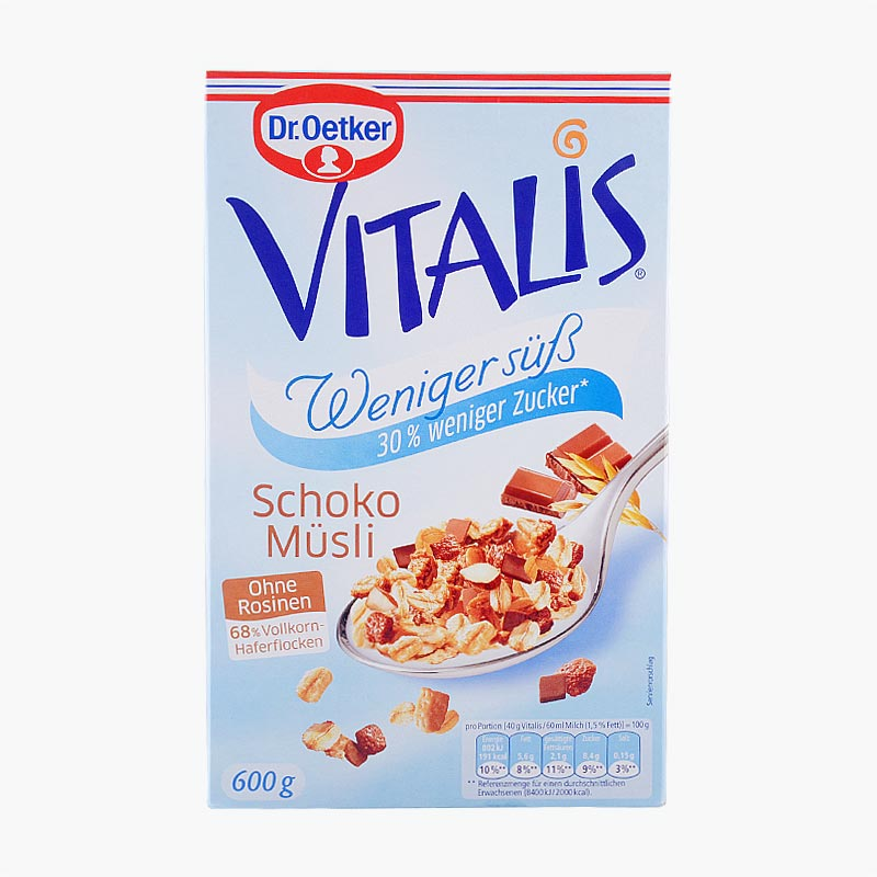 Dr. Oetker Vitalis Low Sugar Chocolate Muesli 600g