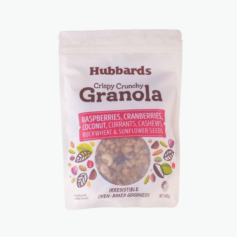 Hubbarbs Raspberries Cranberries Coconuts Granola 400g