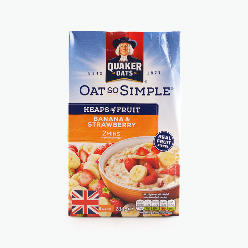 Quaker, Oatmeal (Banana, Strawberry) 284g