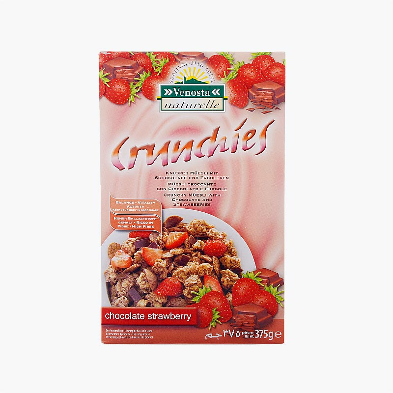 Venosta Strawberry & Chocolate Crunchies 375g