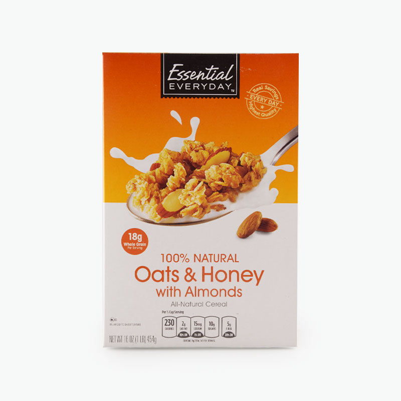 Essential Everyday, Oats & Honey All-Natural Cereal with Almonds 454g