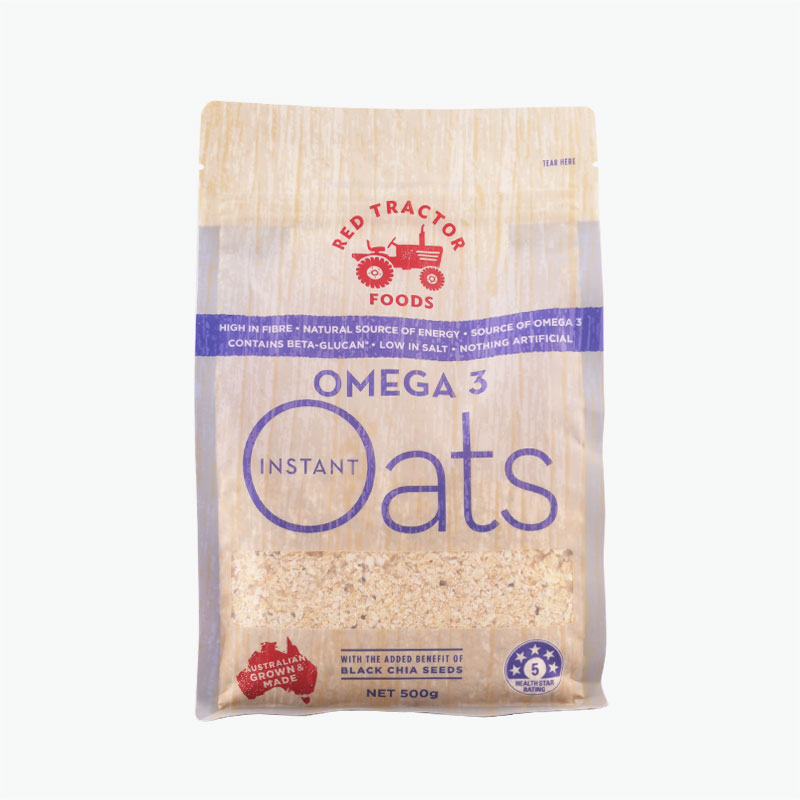 Red Tractor Foods, Omega 3 Instant Oats 500g