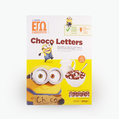 Minions Chocolate Letters Cereal 250g