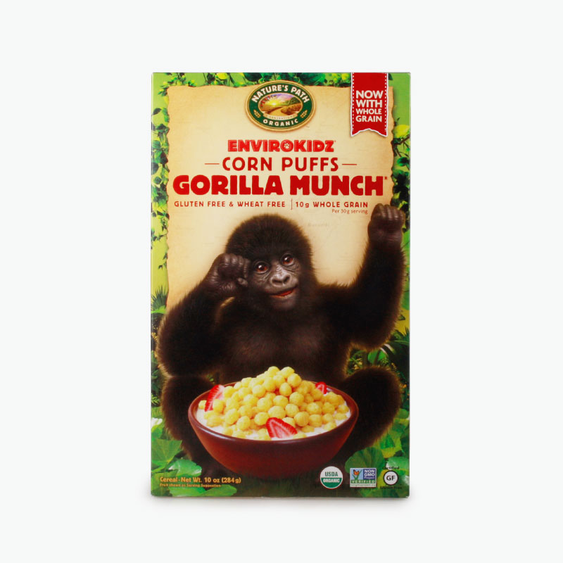 Nature's Path, 'Gorilla Munch' Corn Puffs (Gluten Free) 284g