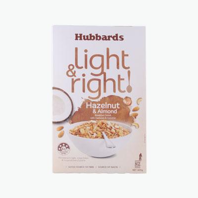 Hubbards Light&Right Hazelnut and Almond Muesli 425g