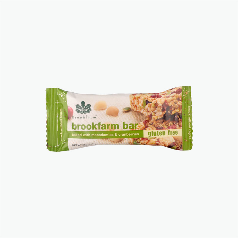 Brookfarm Gluten Free Bar with Toasted Macadamia & Cranberry 35g