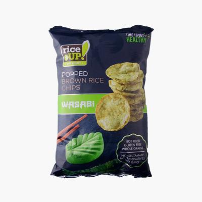 Rice Up Brown Rice Chips Wasabi 60g