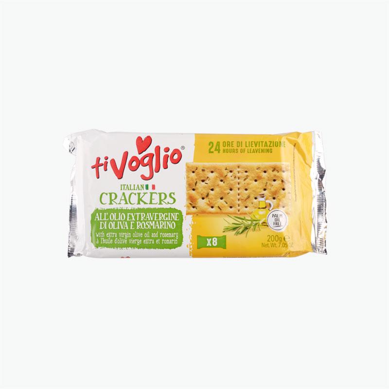 Ti Voglio Olive Oil Soda Crackers 200g