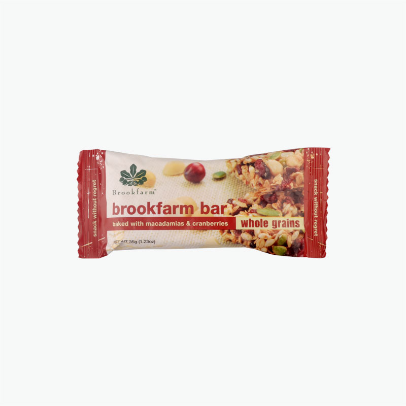 Brookfarm Bar with Toasted Macadamia & Cranberry 35g