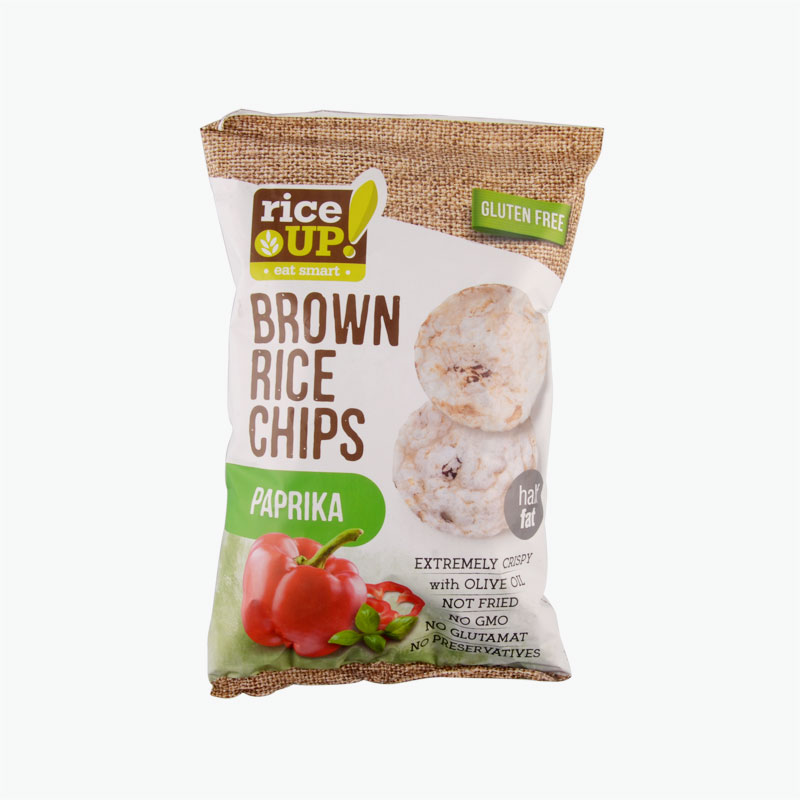 Rice Up Brown Rice Chips Paprika 60g