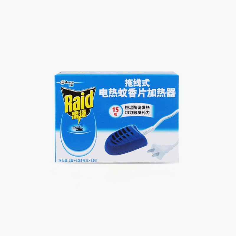 Raid, Plug-in Mosquito Repeller Starter Kit x1 (+15 refill cards)