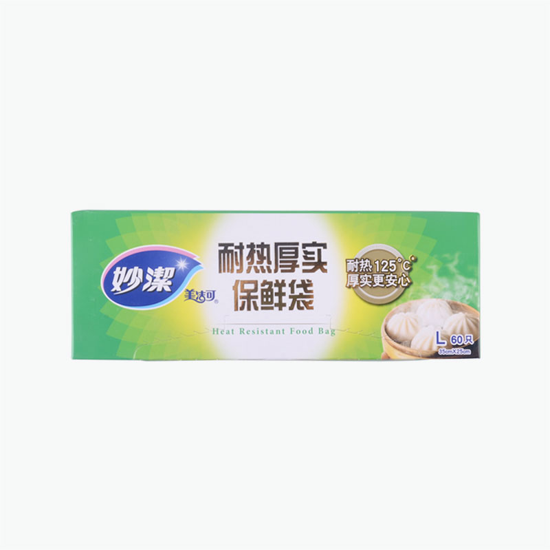 Miaojie, Heat Safe Thick Plastic Bags (Large) 35x25cm x60