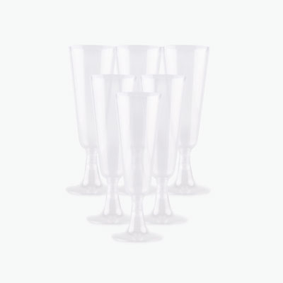 4.7 Oz Disposable Champagne Flute Set of 6