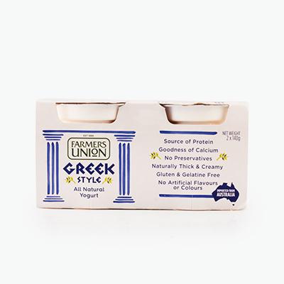 Farmers Union, Greek Style Yogurt 140g x2