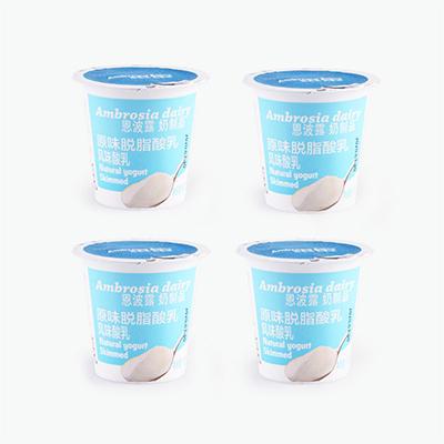 Ambrosia Natural Skimmed Yogurt 100g x4