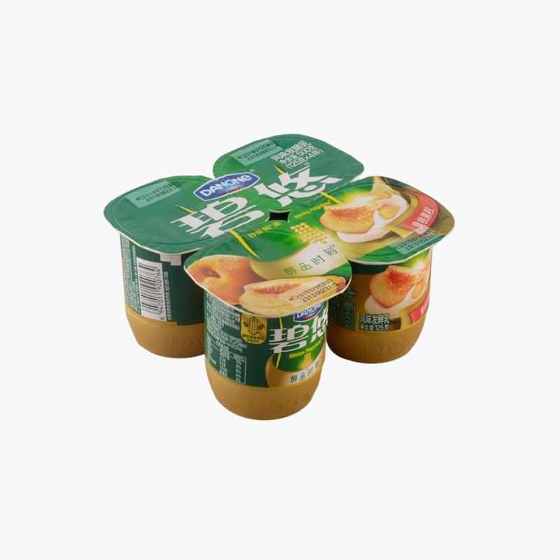Danone Yellow Peach Yogurt 125g×4