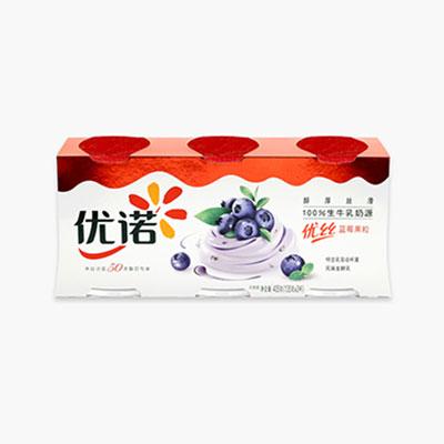 Yoplait Perle de Lait Blueberry Yogurt 135g x3