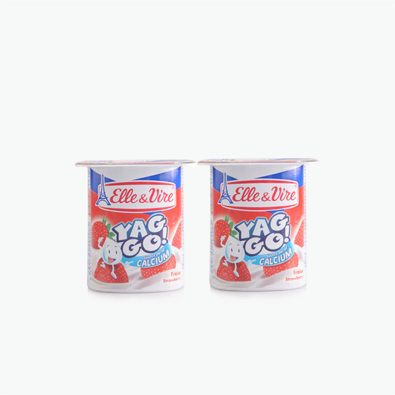 Elle & Vire, 'Yaggo!' Yogurt (Strawberry) 125g x2