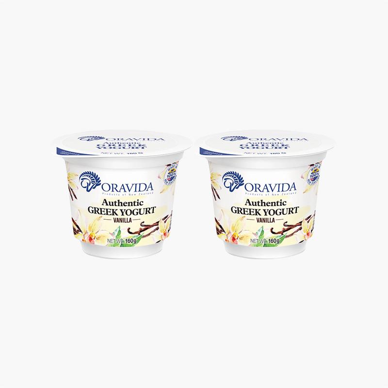 Oravida Vanilla Greek Yogurt  160g x2