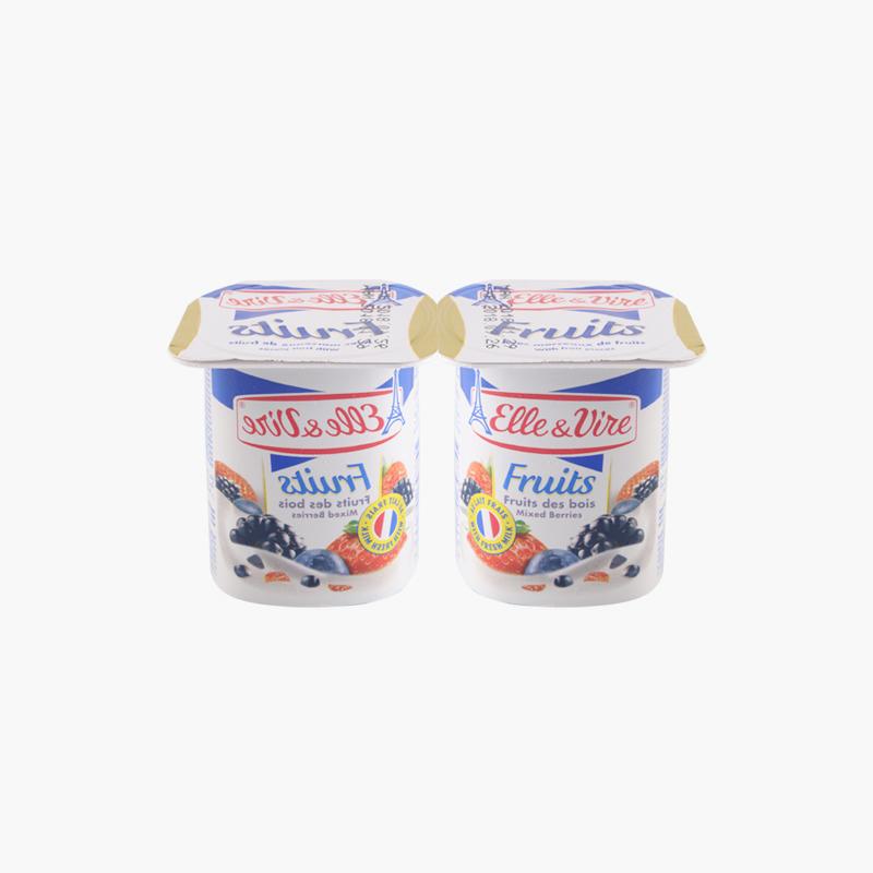 Elle & Vire Mixed Berries Yogurt 125g x2