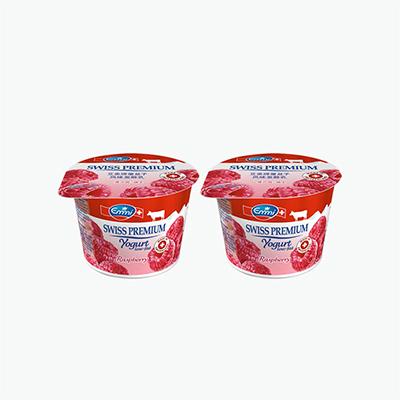 Emmi Swiss Premium Raspberry Yogurt 100g x2