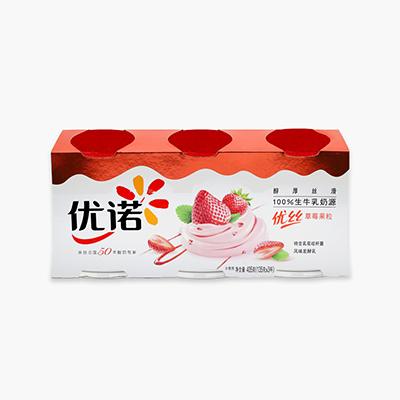 Yoplait Perle de Lait Strawberry Yogurt 135g x3