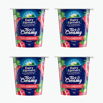 Dairy Farmers Strawberry Yogurt 150g*4