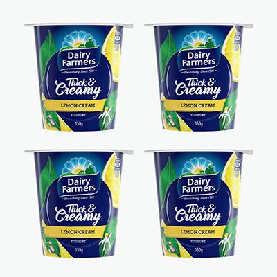 Dairy Farmers Lemon Cream Thick & Creamy Yogurt 150g*4