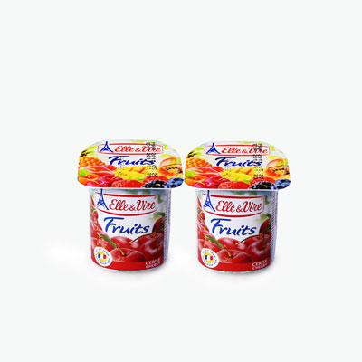 Elle & Vire Cherry Yogurt 125g x2