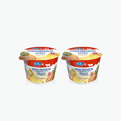 Emmi Swiss Premium Pineapple Yogurt 100g x2