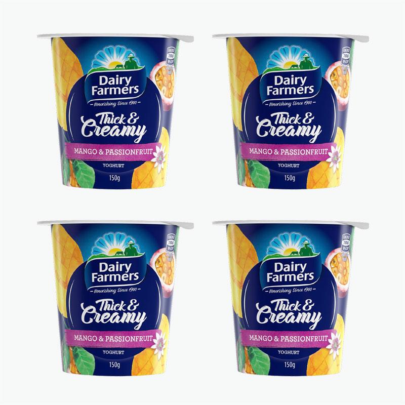 Dairy Farmers Mango & Passion Fruit Yogurt 150g*4