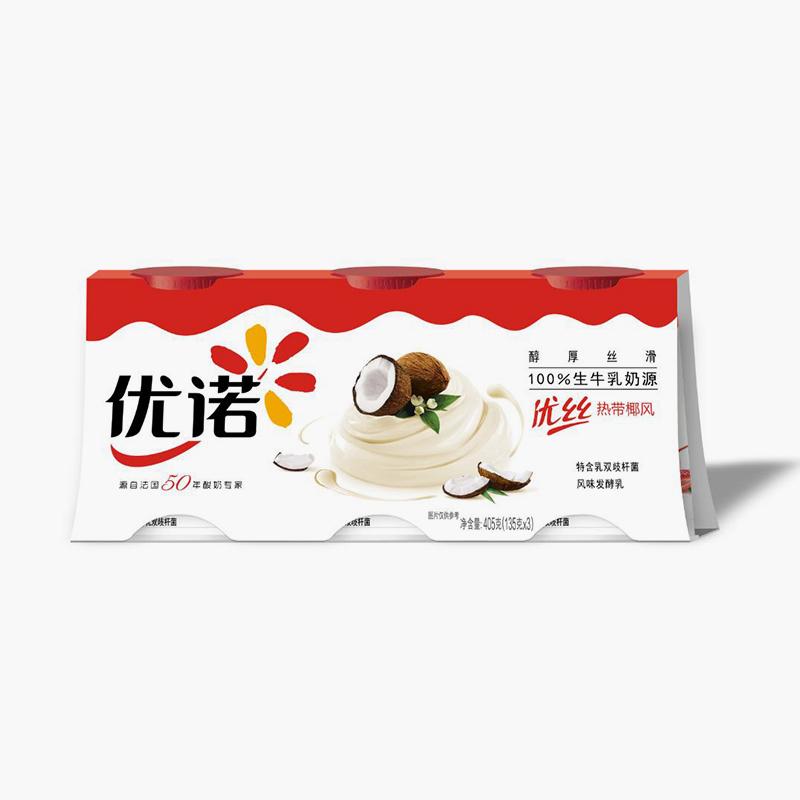 Yoplait Perle de Lait Coconut Yogurt 135g x3