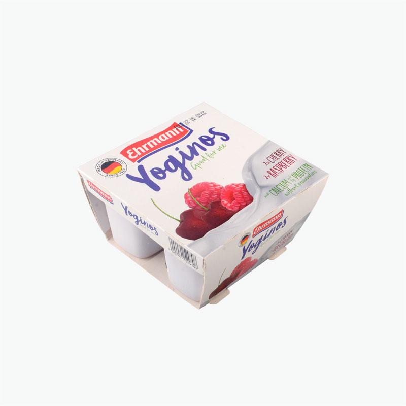 Yoginos 0.1% Cherry Raspberry Yogurt 100gx4