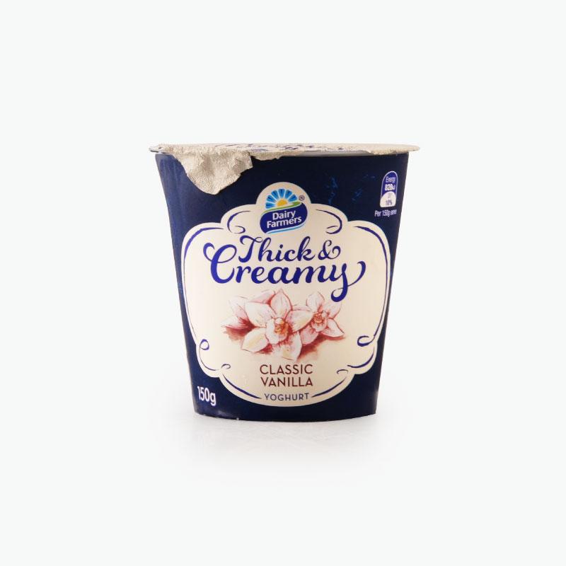 Dairy Farmers Thick Creamy Classic Vanilla Yogurt 150g